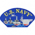 "PATCH-USN,HAT,SHIPS (3""X5-1/4"") - WITH THE OPTION TO HAVE IT ADDED TO A HAT"