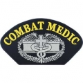 "PATCH-ARMY,HAT,COMBAT MED (3""X5-1/4"") - WITH THE OPTION TO ADD TO A HAT"