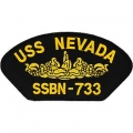 "PATCH-USS,NEVADA (3""X5-1/4"") - WITH THE OPTION TO HAVE IT ADDED TO A HAT"