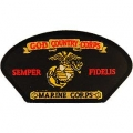 """PATCH-USMC,HAT,GOD-CORPS (3""""X5-1/4"""")  -WITH THE OPTION TO HAVE IT ADDED TO A HAT"""