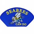 "PATCH-USN,HAT,SEABEES,CAN DO (3""X5-1/4"") - WITH THE OPTION TO HAVE IT ADDED TO A HAT"