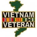 "PATCH-VIETNAM,VETERAN,SVC RIBBONS (3-3/4"")"