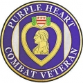 "PATCH-PURPLE HEART, VET (12"")"