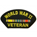 WWII VETERAN HAT PATCH- WITH THE OPTION TO HAVE IT ADDED TO A HAT