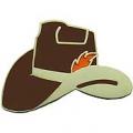 "PIN-COWBOY, HAT, BROWN (1"")"
