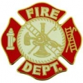 "PIN-FIRE DEPT LOGO, RED (1"")v"