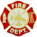 "PIN-FIRE DEPT LOGO, RED (1-1/2"")"