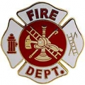 "PIN-FIRE DEPT LOGO, WHT (1-1/2"")"