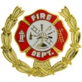 "PIN-FIRE DEPT LOGO, WREATH (1"")"