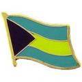 """PIN-BAHAMAS (FLAG) (1"""")"""