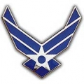 "PIN-USAF LOGO II, WINGS (MINI) (3/4"")"