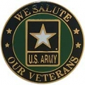 "U.S ARMY SALUTE OUR VETS PIN (1"")"