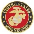 "PIN-USMC LOGO D (REG) (1"")"