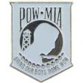 """PIN-POW*MIA, BRING OUR, WHT (1"""")"""