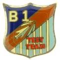 """PIN-APL, B-01 TEST TEAM (LOGO) (1"""")"""