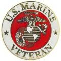 "PIN-USMC LOGO, VETERAN (1"")"