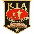 "PIN-KIA, AMERICA REMEMBERS (SHIELD) BLK/RED (1-1/16"")"