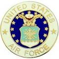 """PIN-USAF LOGO D (REG) (1"""")"""
