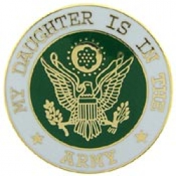 "ARMY DAUGHTER PIN  (1"")"