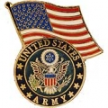 "ARMY LOGO WITH USA FLAG PIN (1-1/4"")"
