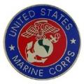 """PIN-USMC LOGO E (REG) (SLV/GLD) (15/16"""")"""