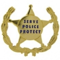 "PIN-BDG, SERVE & PROTECT (1"")"