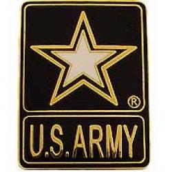 "ARMY STAR LOGO PIN (1"")"