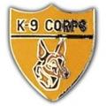 """PIN-BDG, K-9, CORPS (1"""")"""