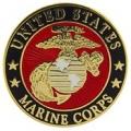 "PIN-USMC LOGO B (SML) (3/4"")"