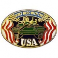 "PIN-ARMY, DON'T MESS W/USA (1"")"