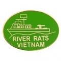 """PIN-VIETNAM ,RIVER RATS,BOAT (1"""")"""