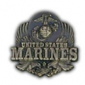 "PIN-USMC LOGO, PEWTER (1"")"