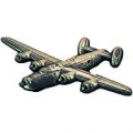 "B-24 LIBERATOR PIN (PEWTER) (1-1/2"")"