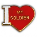 "PIN-ARMY, I HEART MY SOLD. (1"")"