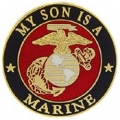 "PIN-USMC LOGO, SON (1"")"