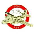 "B-26 WITH LOGO PIN (1"")"