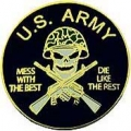 "PIN-ARMY, MESS W/BEST (1"")"