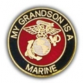 "PIN-USMC LOGO, GRANDSON (1"")"