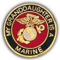"PIN-USMC LOGO, GRANDDAUGHT ER (1"")"