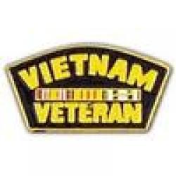 "PIN-VIETNAM ,VETERAN,SVC.RIBB (1-1/4"")"