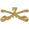 "BDG-ARMY, CAV. SWORDS, 07TH (2-1/4"")"