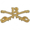 "BDG-ARMY, CAV. SWORDS, 12TH (2-1/4"")"