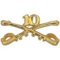 "BDG-ARMY, CAV. SWORDS, 10TH (2-1/4"")"