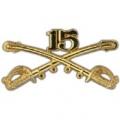"BDG-ARMY, CAV. SWORDS, 15TH (2-1/4"")"