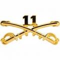"BDG-ARMY, CAV. SWORDS, 11TH (2-1/4"")"
