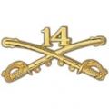 "BDG-ARMY, CAV. SWORDS, 14TH (2-1/4"")"