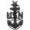 "PIN-USN, CHIEF PET. OFF. SR. (SUBDUED) (1-7/16"")"