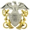 """BDG-USN, OFF. CAP (1-1/4"""")"""