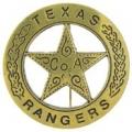 """BDG-TEXAS RANGER (GLD) (1-5/8"""")"""
