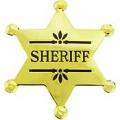 """BDG-SHERIFF (GLD) (2-1/2"""")"""